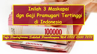 Inilah 3 Maskapai dengan Gaji Pramugari Tertinggi di Indonesia