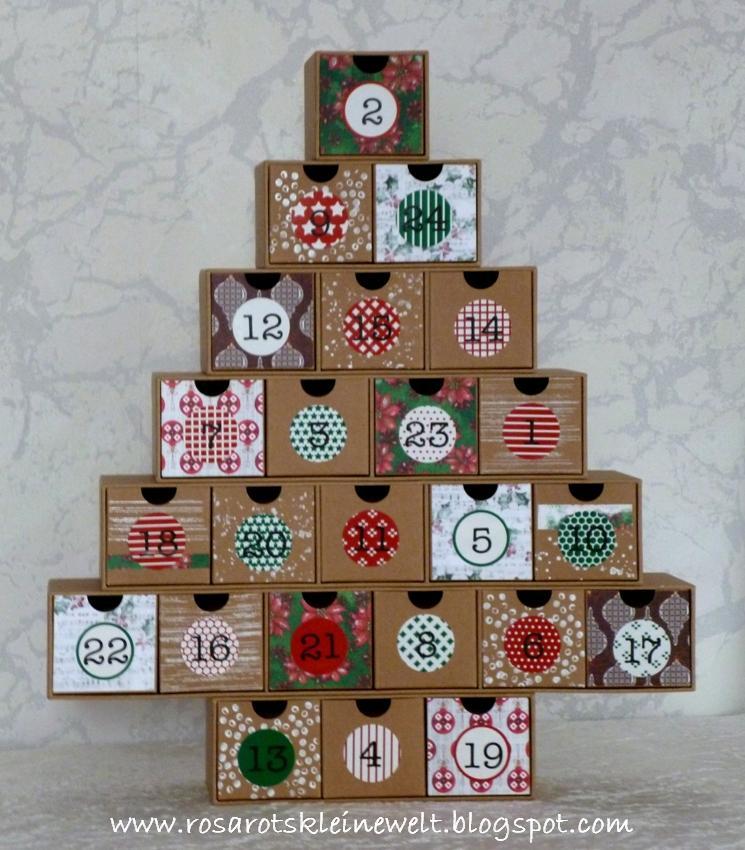 Weihnachtskalender Tannenbaum.Rosarot S Kleine Welt Tannenbaum Adventskalender