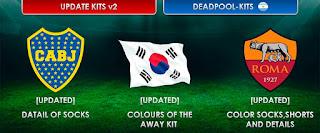 Update Kits OF Boca Juniors - South Korea - AS Roma Pes 2013
