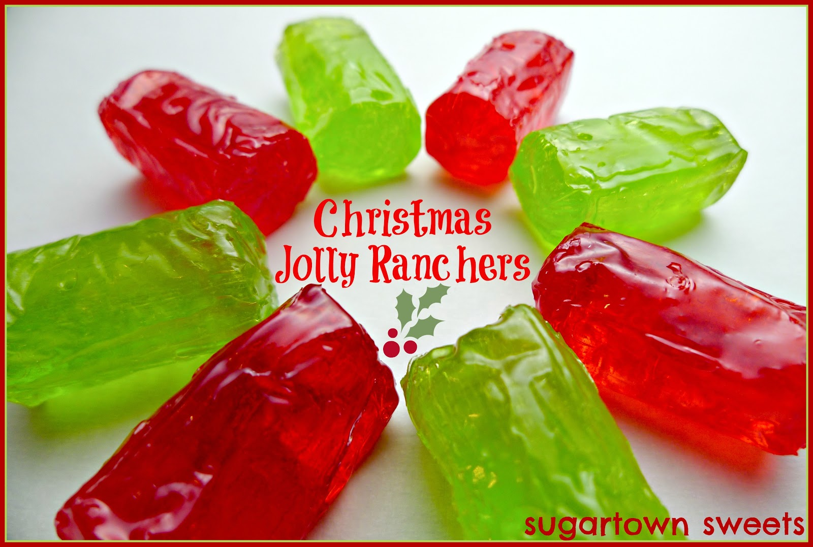 Sugartown Sweets Holly Jolly Ranchers Christmas Lollipops