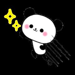 Cute panda's sticker 3