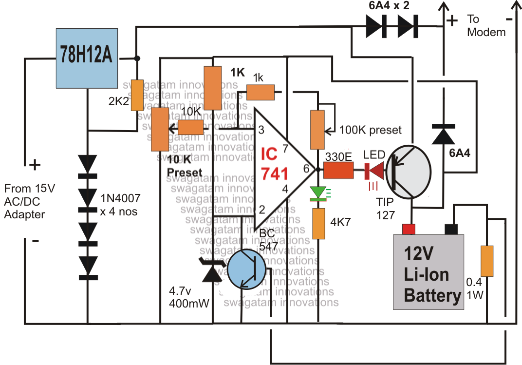 Ups Charger Circuit Diagram Free Wiring For You Automatic Micro Centre Drawing Schematic