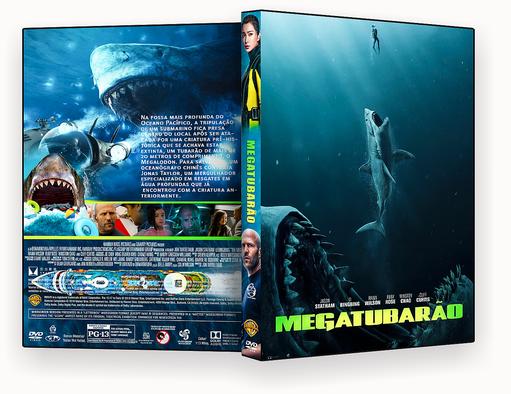 CAPA DVD- Megatubarão DVD-R