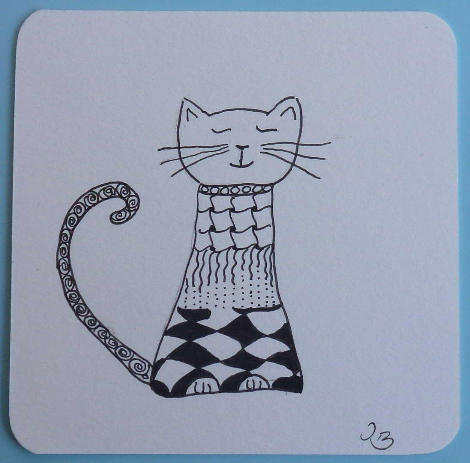 Fea Zentangle Katze