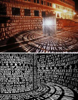 Luz brillante y arte con fuentes o tipografía