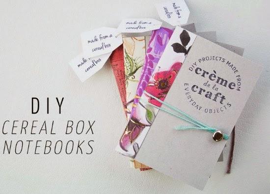 libretas, cajas cereales, tutorial, manualidades, scrap,