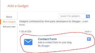 membuat kontak form di blogger