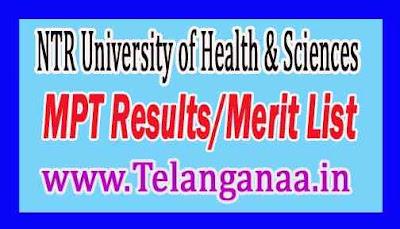 Dr. NTRUHS MPT Results/Merit List Download