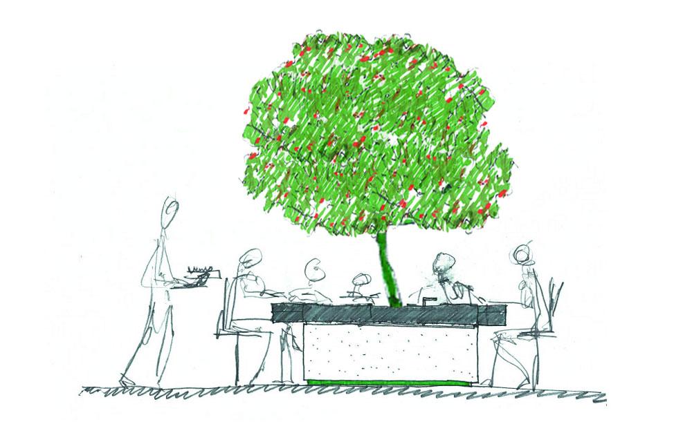 il tavolo/cottura di Stefano Boeri Architetti progettato per ARAN Cucine