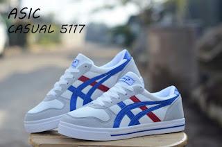 Sepatu Asic Casual 5117 (Import) White Blue