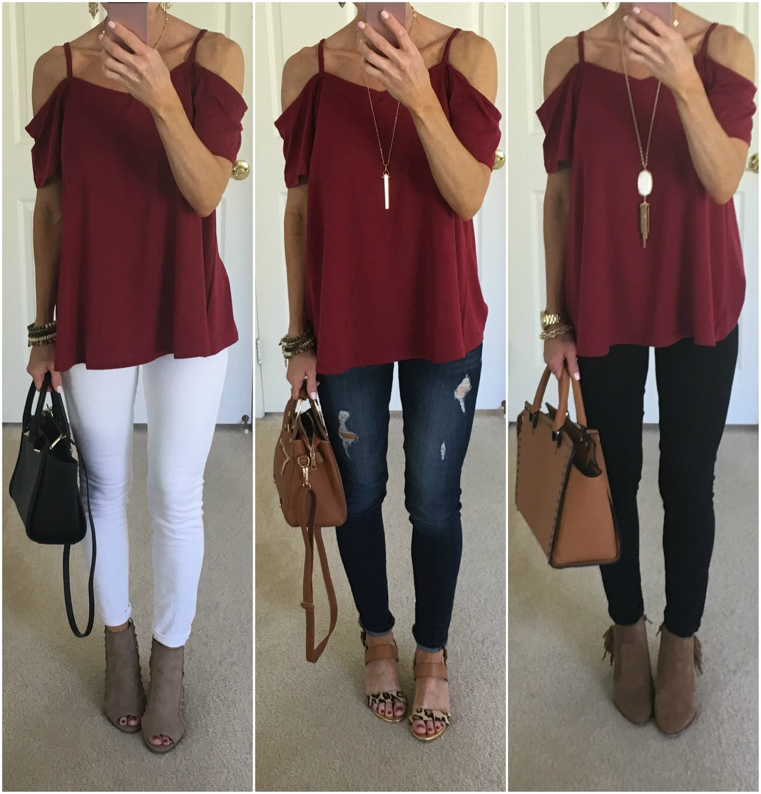 burgundy top outfit ideas  on the daily express
