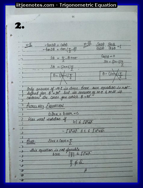 Trigonometric Equation Notes2