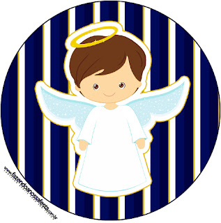 Brunette Boy Angel: Free Printable Wrappers and Toppers.