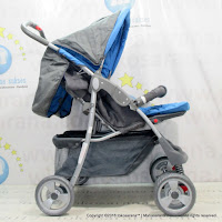 Kereta Bayi Junior PL1 Twin Blue