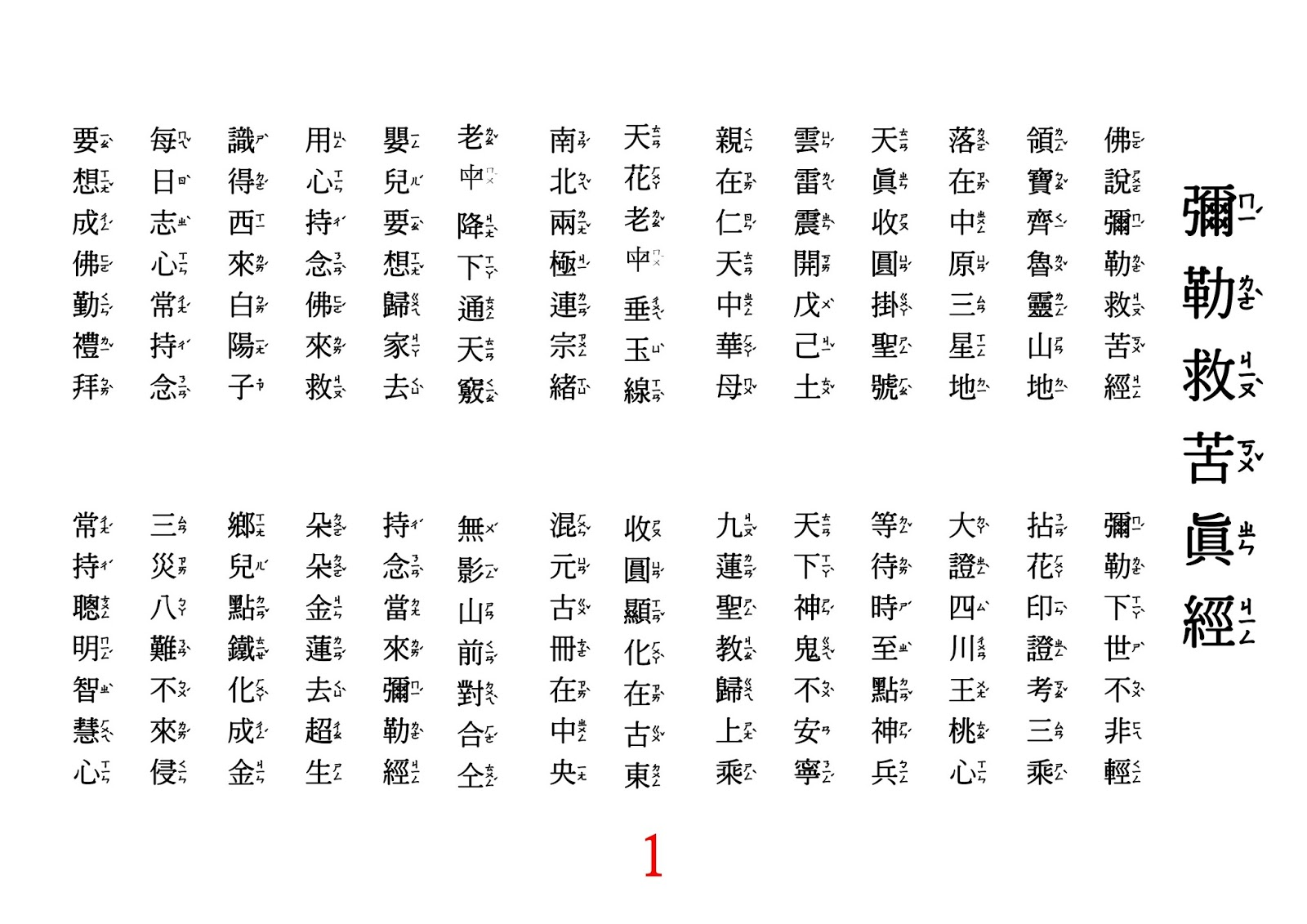 白陽三聖 : 彌勒救苦真經(注音版)