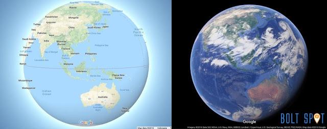 Tampilan Bumi dengan fitur terbaru Google Maps 3D Globe Mode
