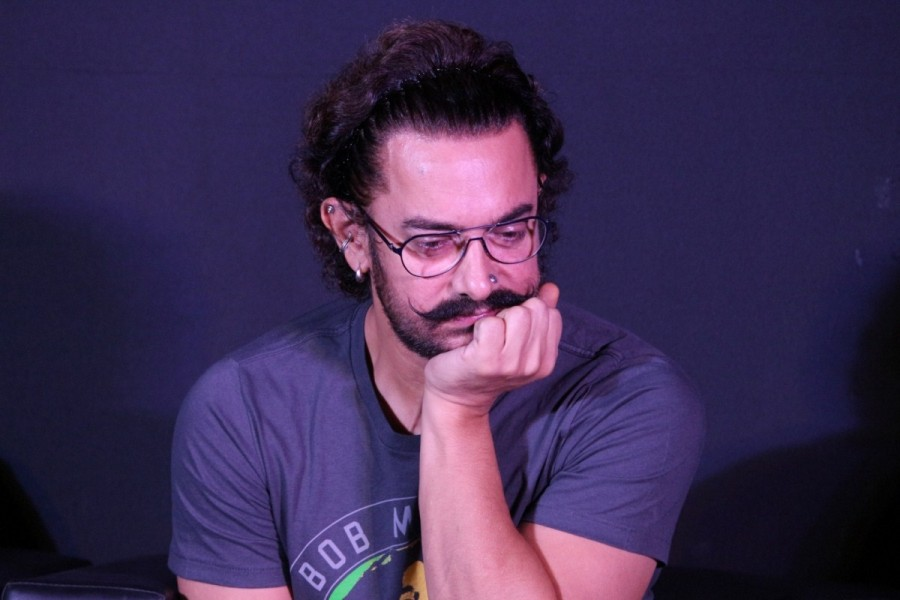 "Aamir Khan During The Song Launch of film ""Secret Superstar"""