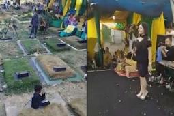 Viral! Pesta Pernikahan di Kuburan Diiringi Musik Dangdut dan Goyangan