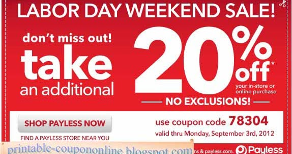Payless shoes coupon codes november 2018