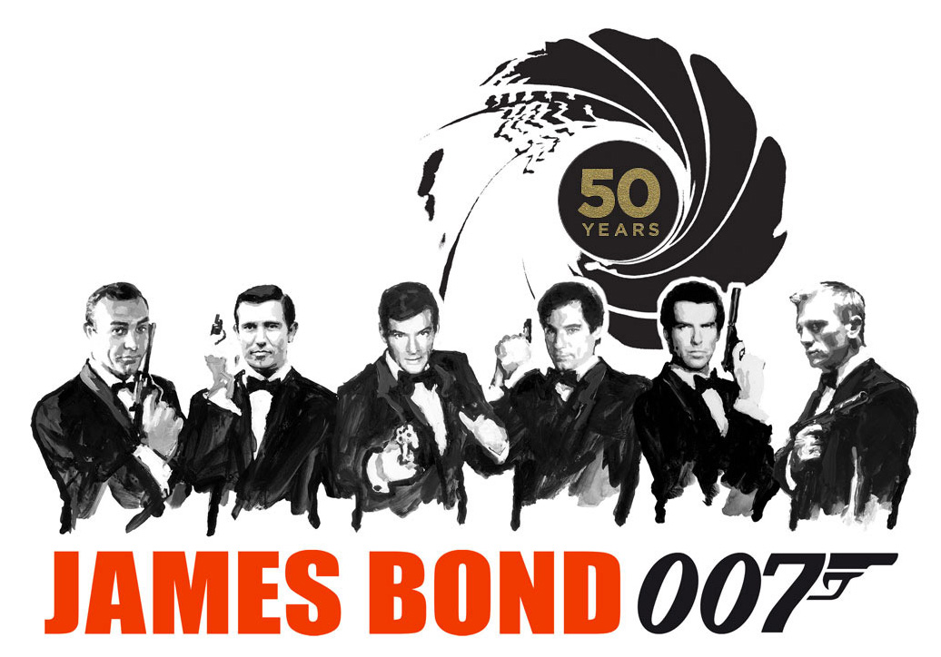 All Six 007 Actors At The Oscars For Their Fiftieth Anniversary