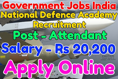 National Defence Academy Recruitment 2017