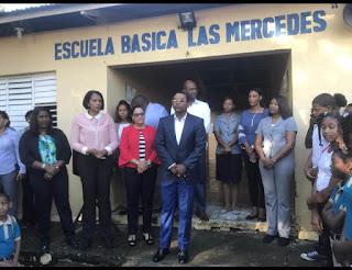 Demetrio Lluberes y Rosa Peña habilitan escuela provisional en las Mercedes