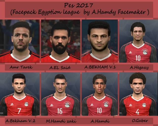 PES 2017 Facepack Egyptian League by A.Hamdy