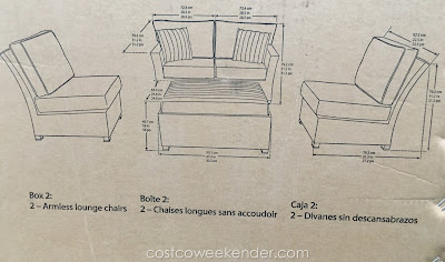 Backyard entertaining at its best with the Sunbrella 5-Piece Modular Sectional Woven Seating Group