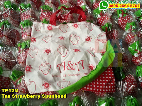Toko Tas Strawberry Spunbond
