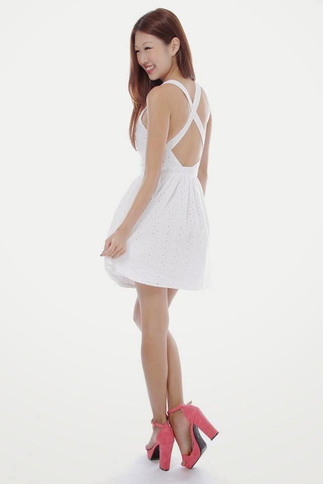33bbee5dc7dba4 BNWT Shop Sadie's Simone Eyelet Dress XS: PTP 14