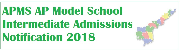 APMS AP Model School Intermediate Admissions Notification 2018, Online Application