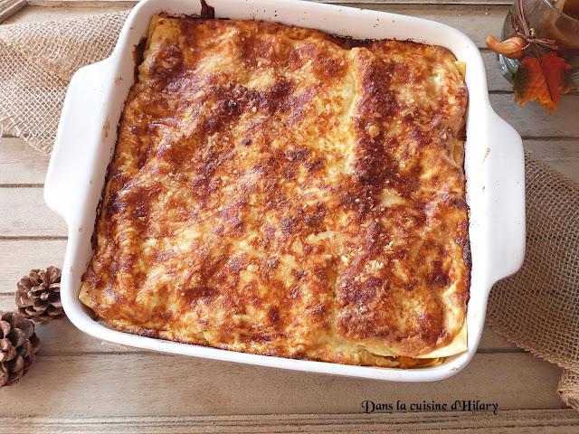 Lasagnes butternut rôtie, saumon et ricotta