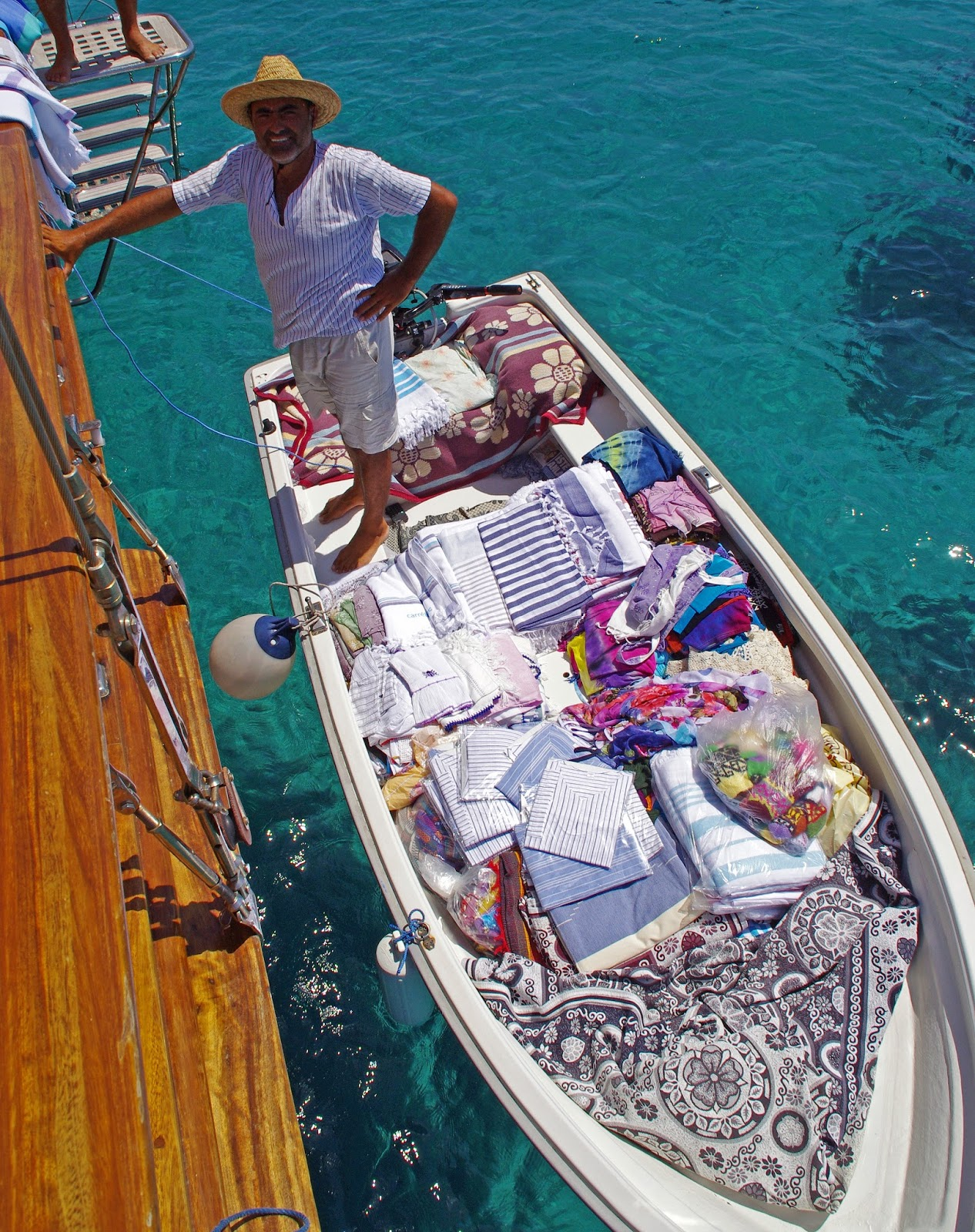 Buying Towels while sailing in Turkey