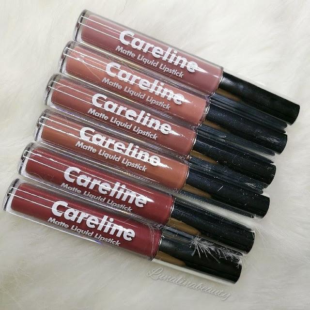 Careline Matte Liquid Lipstick review swatches