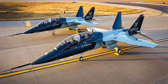 Image Attribute: Boeing's T-X Prototype 1 (N381TX) and 2 (N382TX) / Source: Boeing