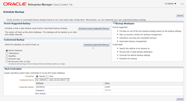 How to Connect Oracle Enterprise Manager 13cR2 with the Oracle