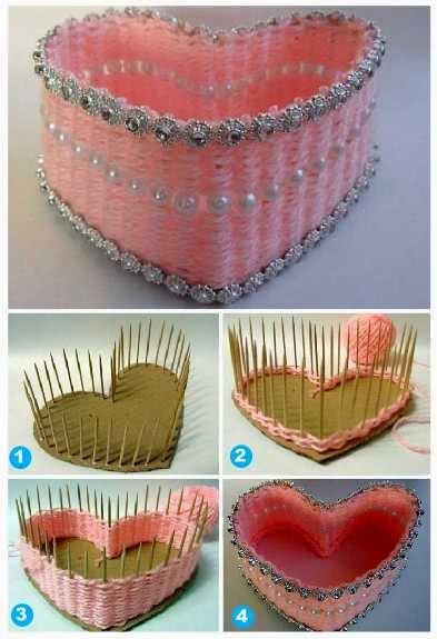 Cara membuat Tempat Accessories Dari Benang Wol Dan Tusuk Gigi