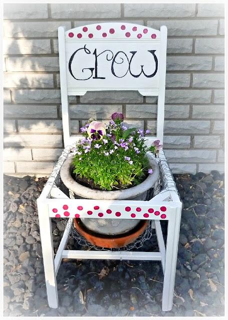 Grow Where You are Planted Garden Chair