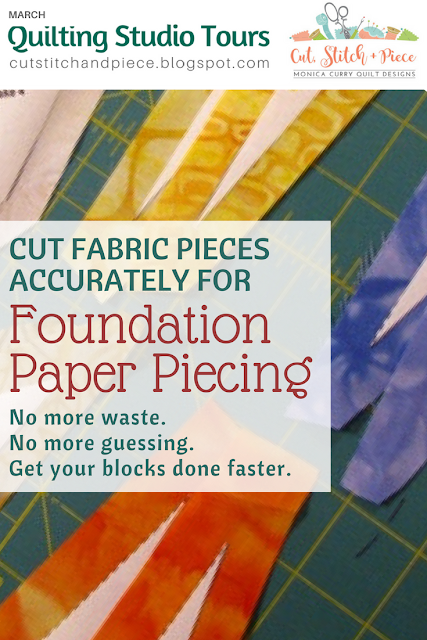 How to cut accurately for foundation paper piecing