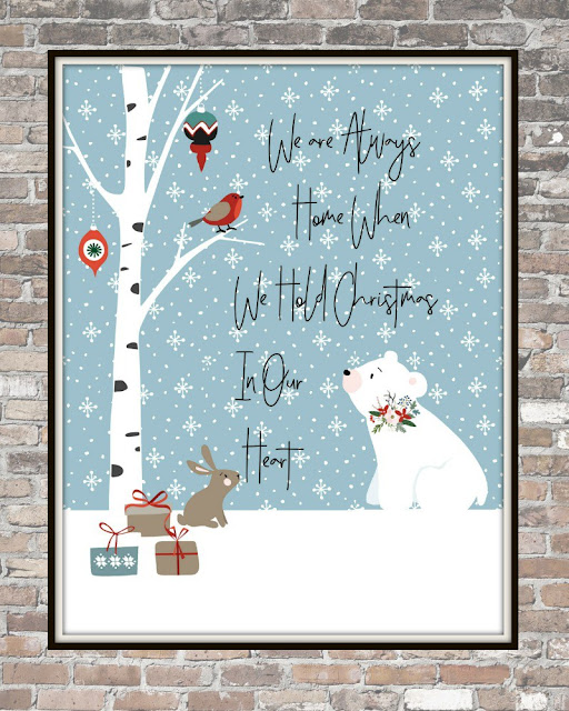 christmas printable animals