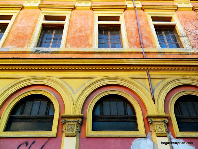 Fachada no bairro do Testaccio, Roma