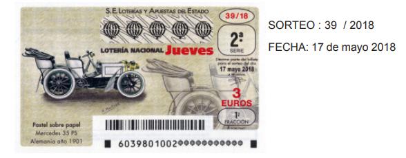 loteria del jueves 17 de mayo
