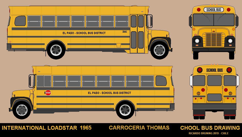 DIBUJOS DE BUSES: SCHOOL BUS 2