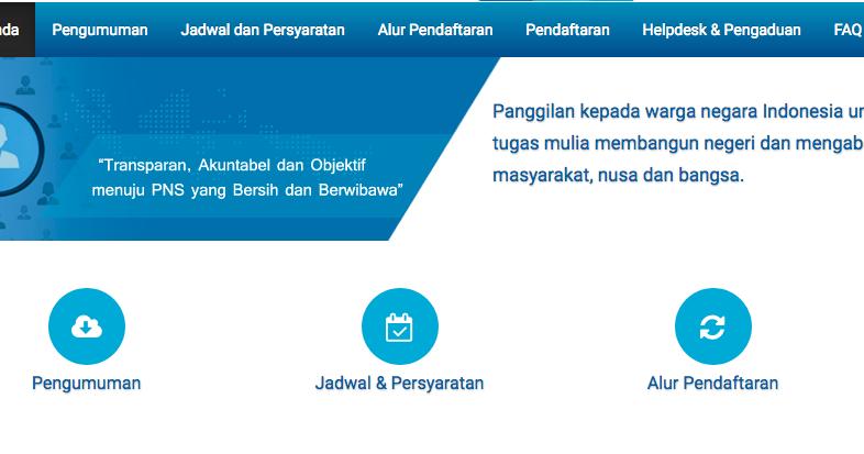 Pendaftaran Pengumuman CPNS SSCN.BKN.go.id 2019/2020