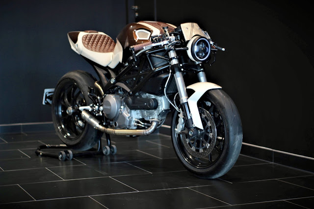 Retro Neo Cafe Racer Built from Ducati 796 Monster by BP Moto Design, France