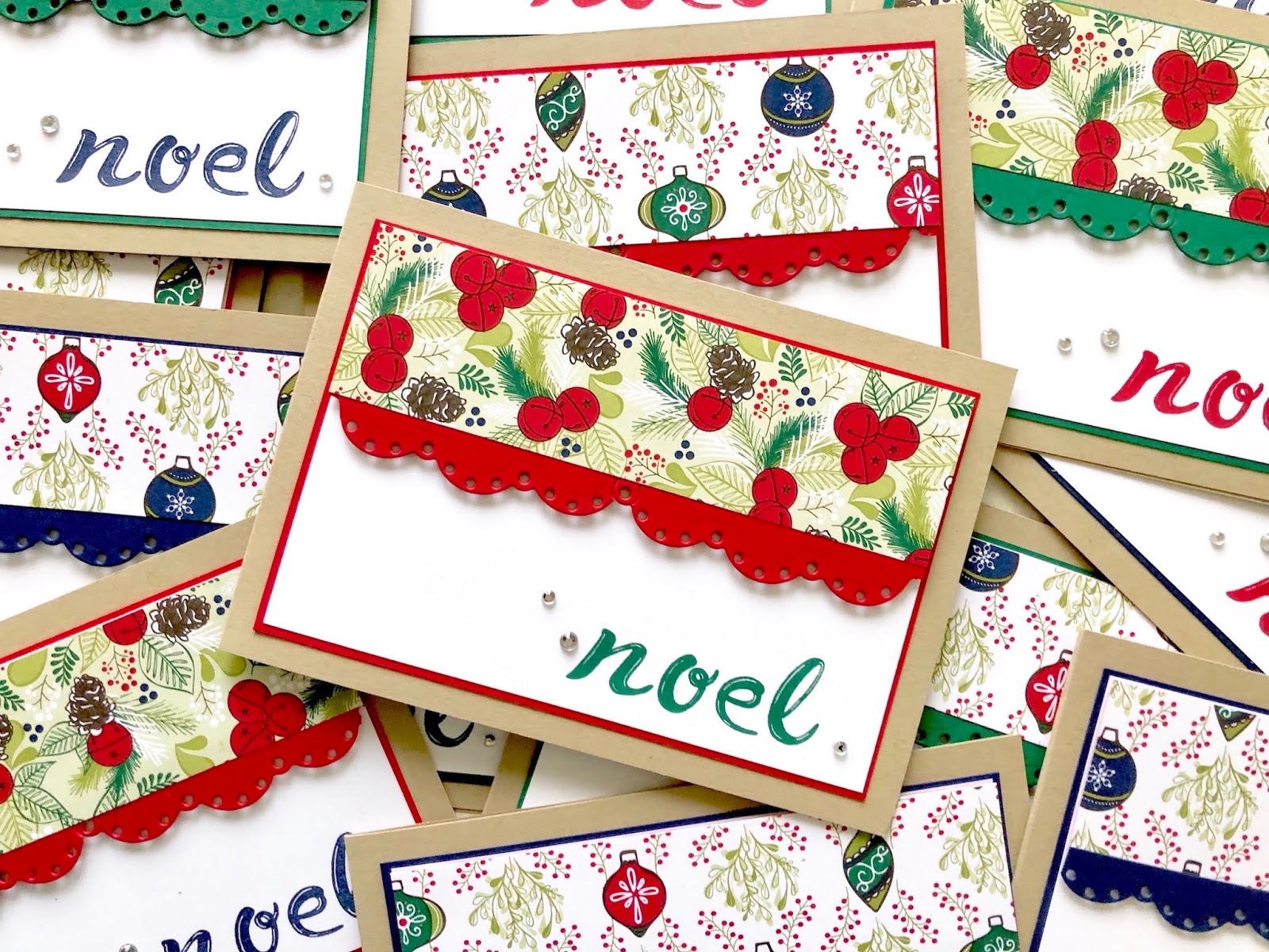 Handlettering Christmas Cards - Handmade by Fiona