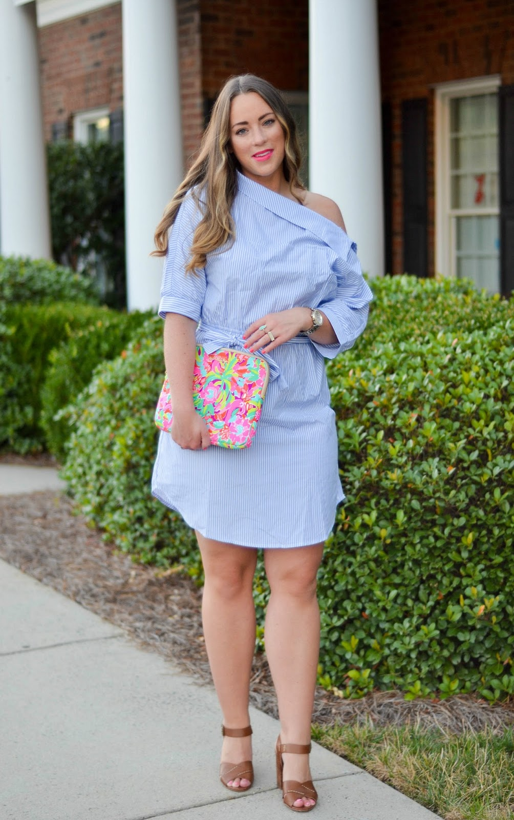 1e35539610f7 Trending Tuesday  Off Shoulder Shirtdress • Brittany Ann Courtney