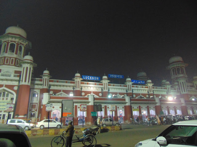 a view of lucknow station