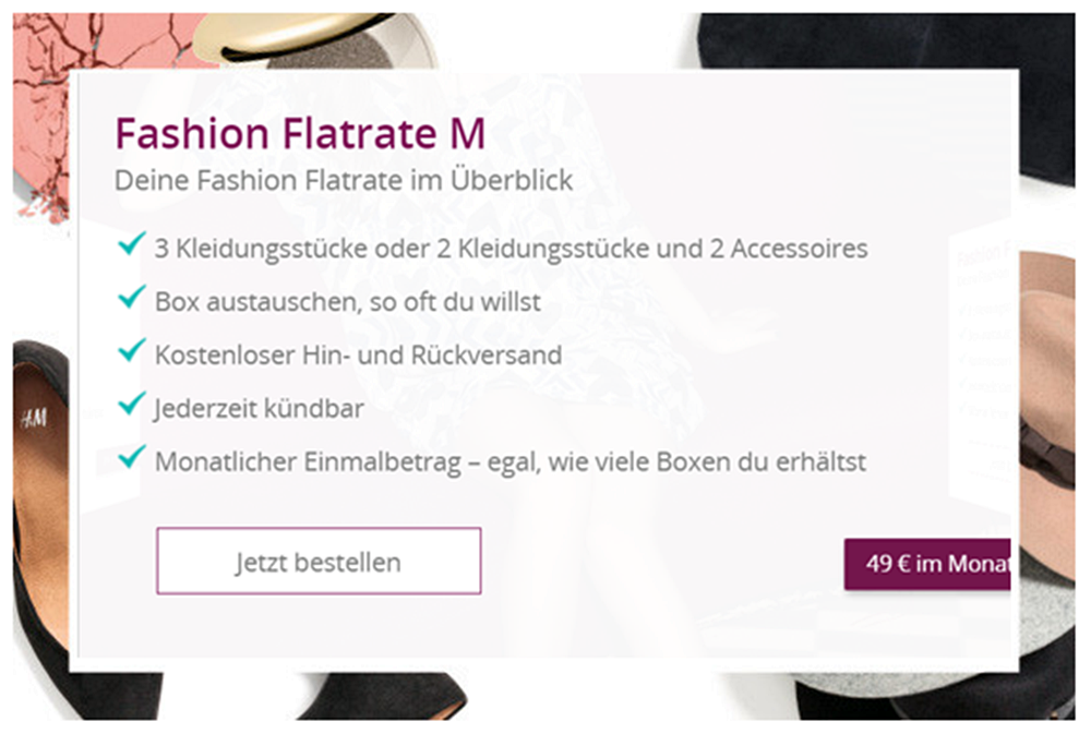 Fashion Flatrate M