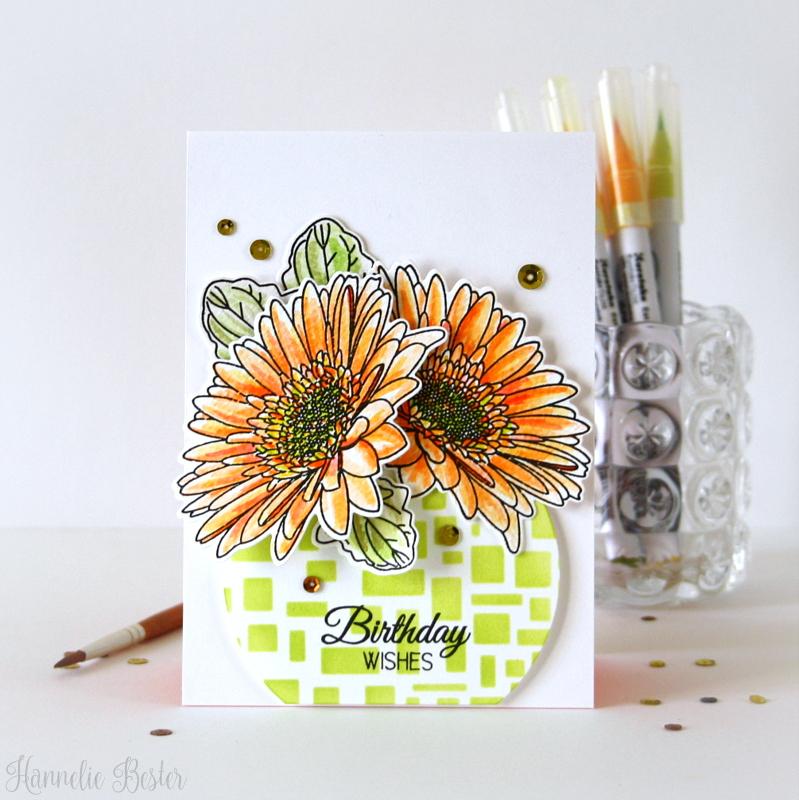 Uniko Gerbera  birthday card